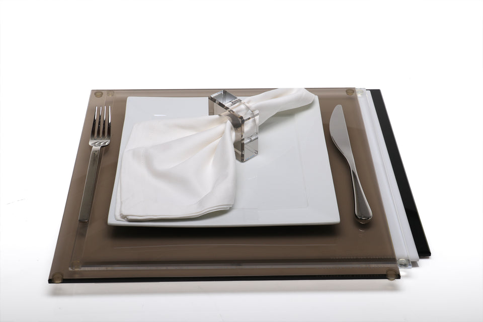 Square Placemat Set in Multi-Jewel