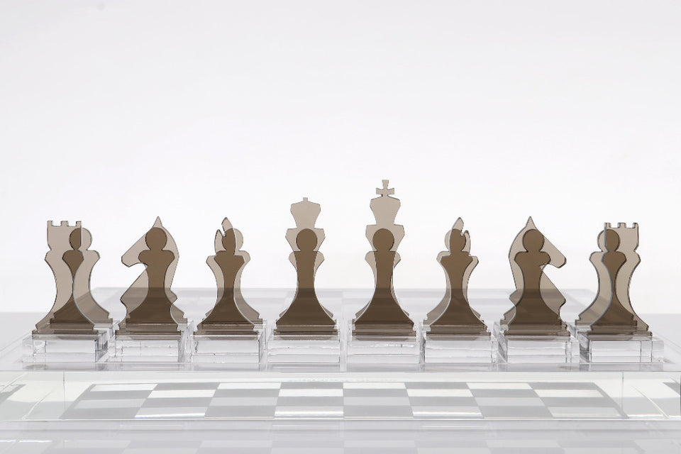 AVF Chess Piece Set of 16 Bronze (Made to Order.  2-4 week lead time minimum)