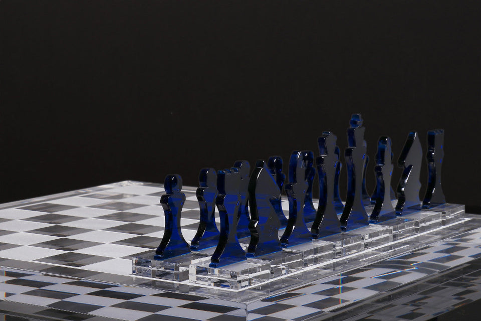 AVF Chess Piece Set of 16 Sapphire (Made to Order.  2-4 week lead time minimum)