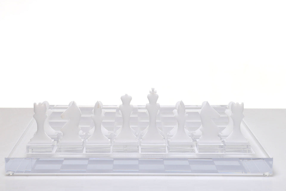 AVF Chess Piece Set of 16 White (Made to Order.  2-4 week lead time minimum)