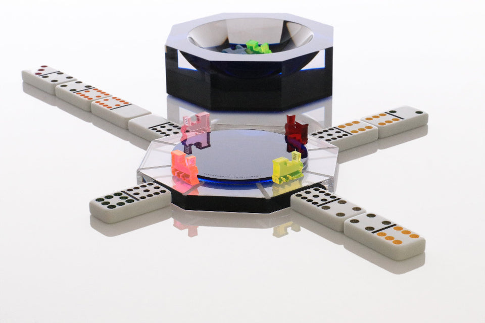 Mexican Train Hub Box in Sapphire
