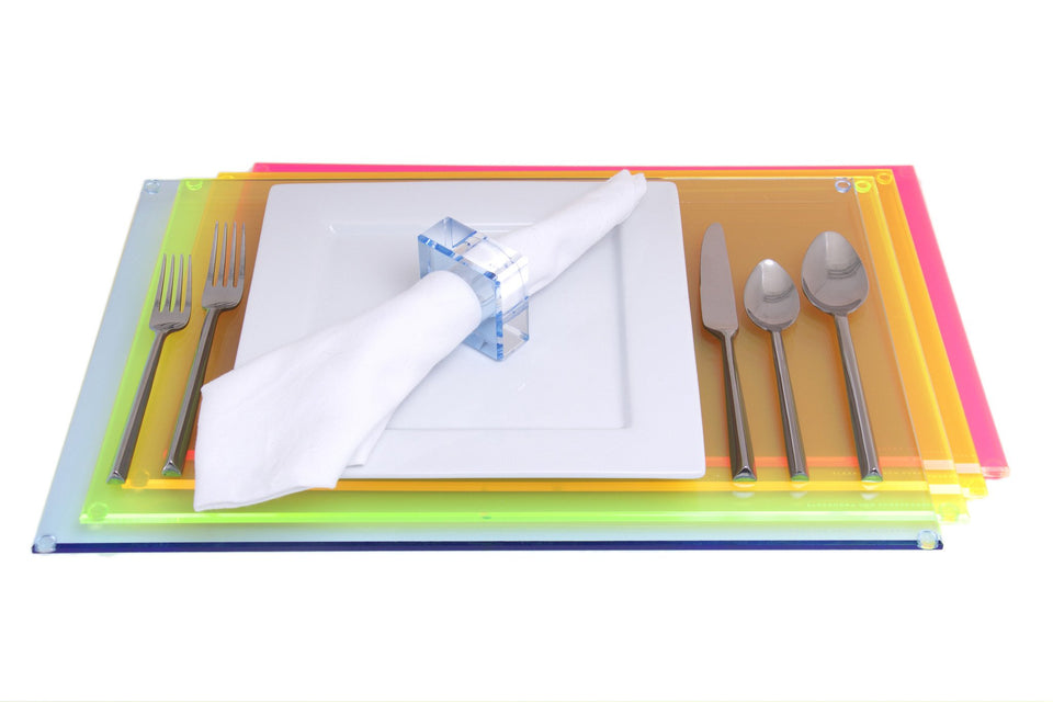 Rectangle Placemat in Multi-Neon
