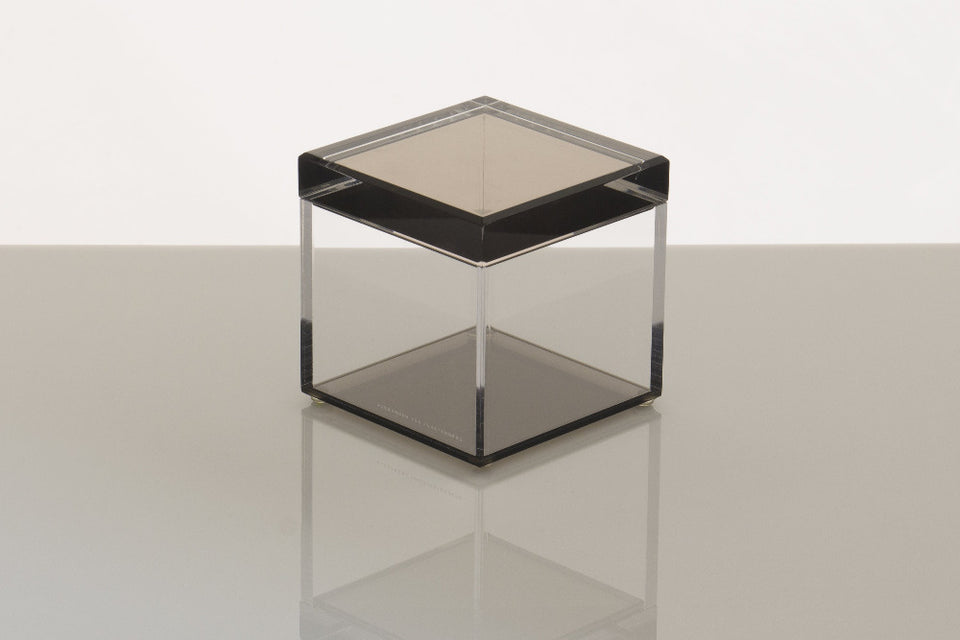 Cubic Treasure Box in Bronze