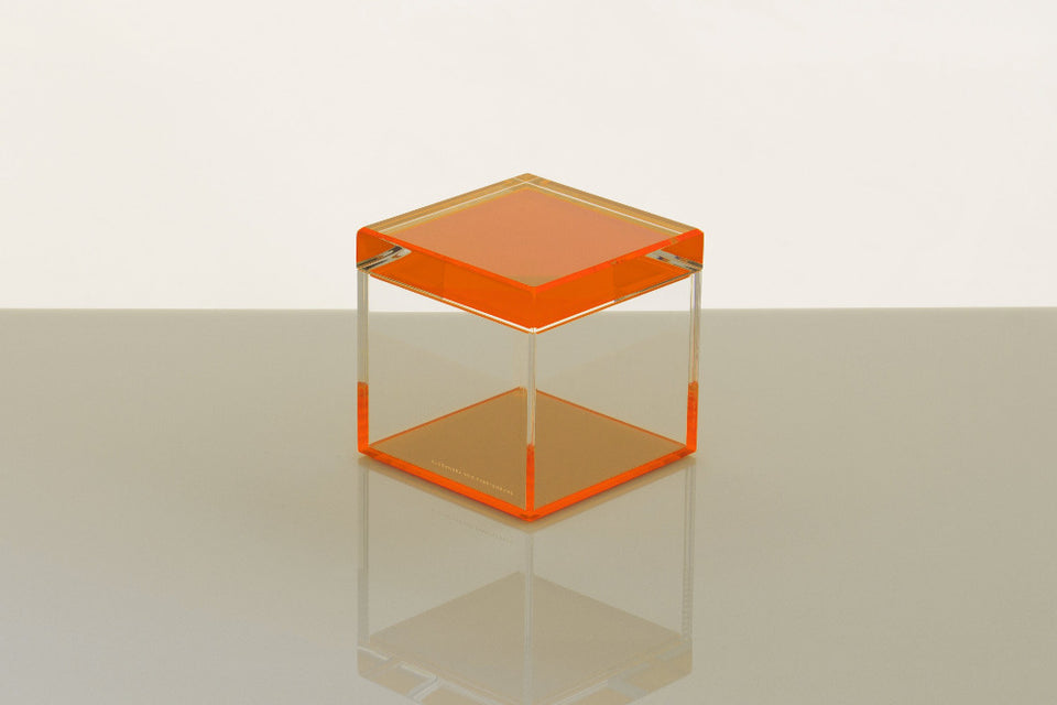 Cubic Treasure Box in Orange