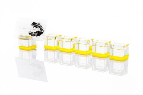 F501 | Rock Blocks Placecard Holder, Yellow, S6
