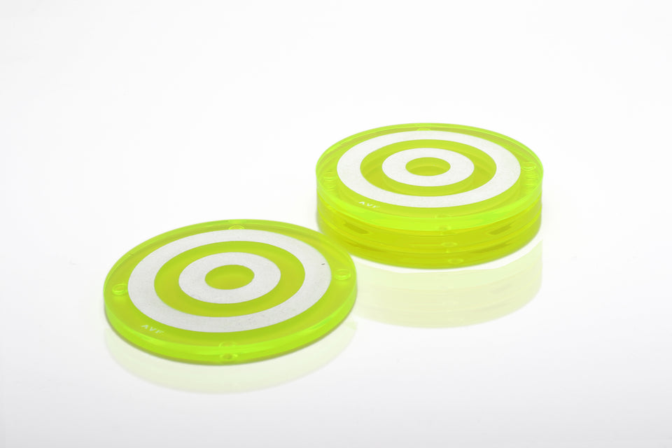 Bullseye Coaster Set in Green