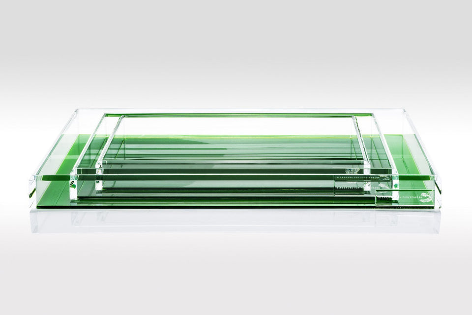 Tray in Emerald