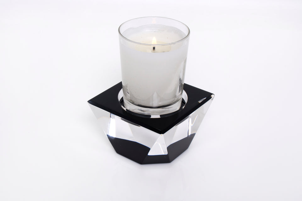 Candle Pedestal in Black