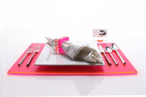F110 | Rec Placemat, Pink, S4