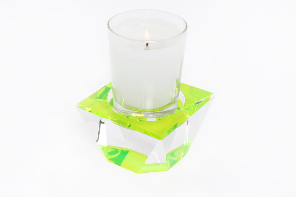Candle Pedestal in Green