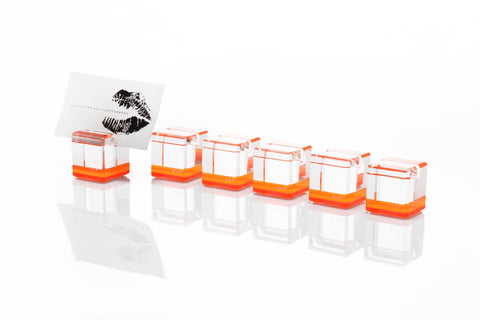 F501 | Rock Blocks Placecard Holder, Orange, S6