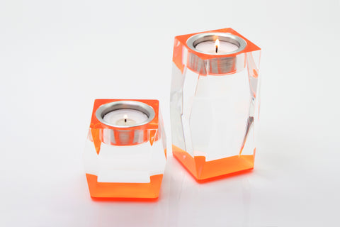 F509 | Candleholder, Orange