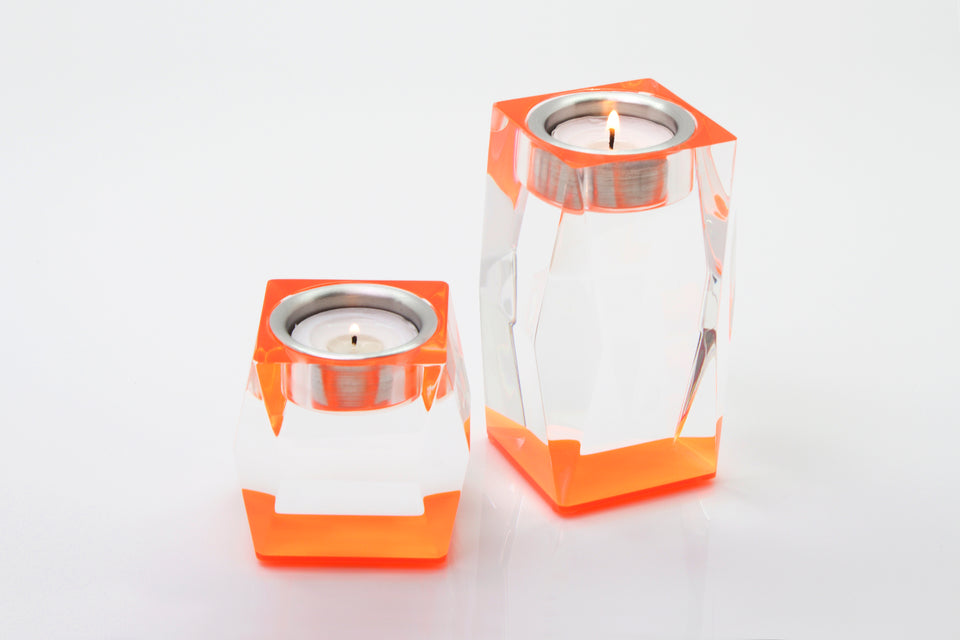 Candleholder in Orange