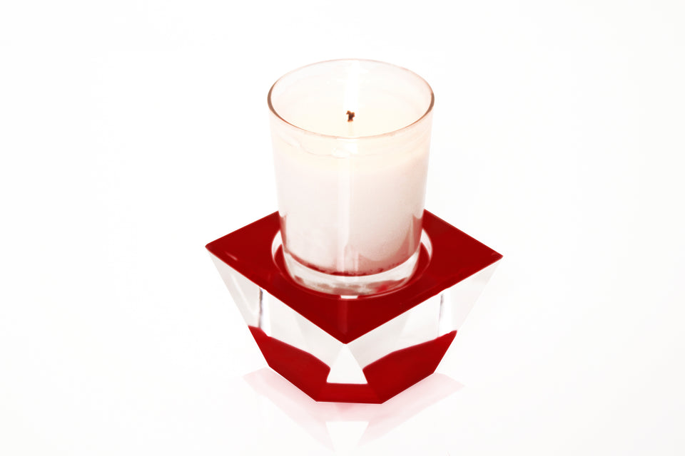 Candle Pedestal in Ruby