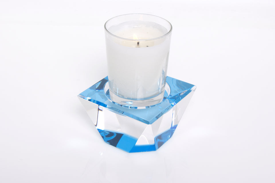 Candle Pedestal in Blue