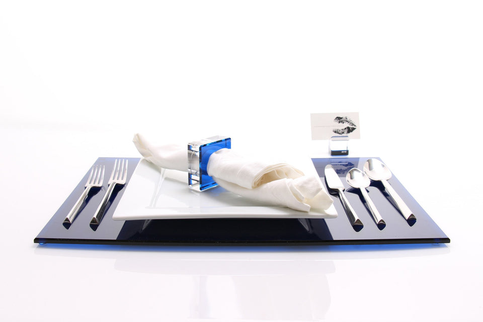 Rectangle Placemat in Sapphire