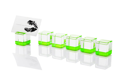 F501 | Rock Blocks Placecard Holder, Green, S6