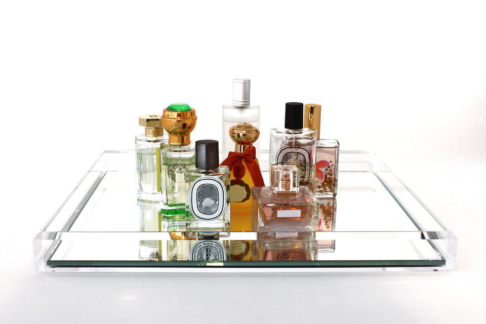 Vanity Mirror Tray in Clear
