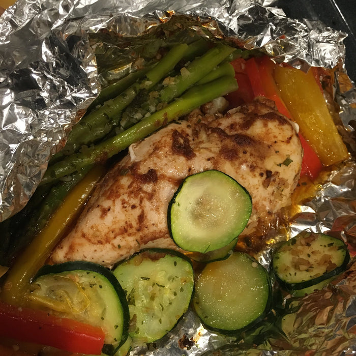 Low Carb Barbecue Chicken and Vegetables