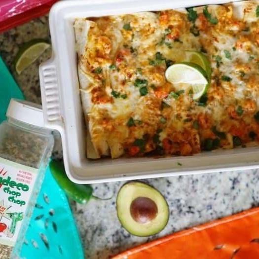 Zydeco Chop Chop Crawfish Enchiladas-Cajun Crate & Supply