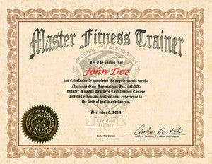 30.  NGA MASTER FITNESS TRAINER COURSE - Choice of Manual or USB Flash Drive