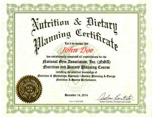 how to get a nutrition certification