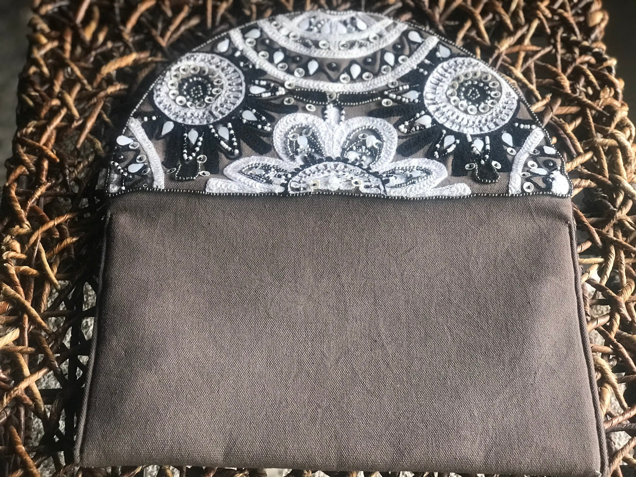 Clutch in Black and White (and Gray)