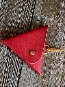 Reddy Reddy Red Triangle Coin Purse Key Chain