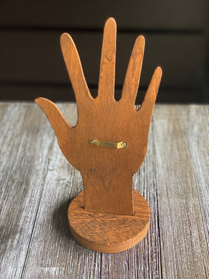 Wood You Please Raise Your Hand Ring Display