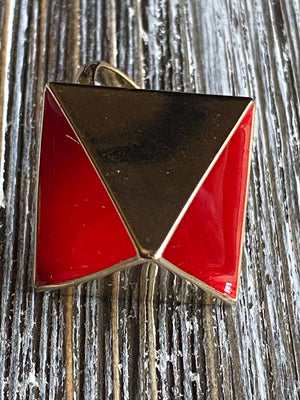 Little Red Pyramid Ring
