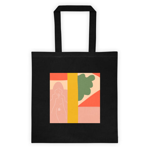 SEASON 2 BLK TOTE // BLUSH