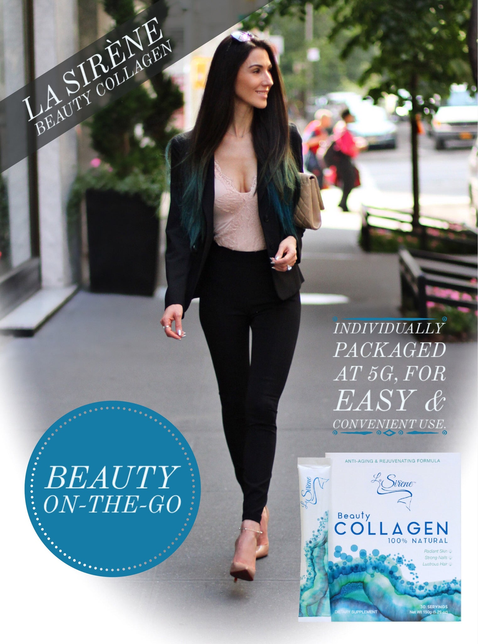 La Sirene Marine Collagen Beauty Supplement, Beauty-On-The-Go