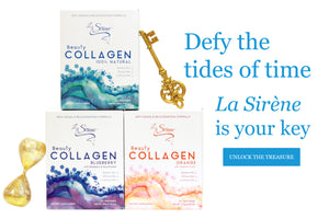 Defy the tides of time, La Sirene is your key. Unlock the treasure. Beauty Marine Collagen