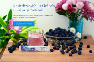 La Sirene Blueberry Beauty Collagen is rich in antioxidants. It naturally detoxifies the body and strengthens the immune system.