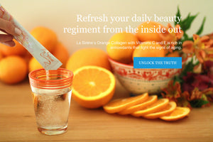 La Sirene Orange Beauty Marine Collagen with Vitamin C & E is rich in antioxidants that fight the signs of aging.