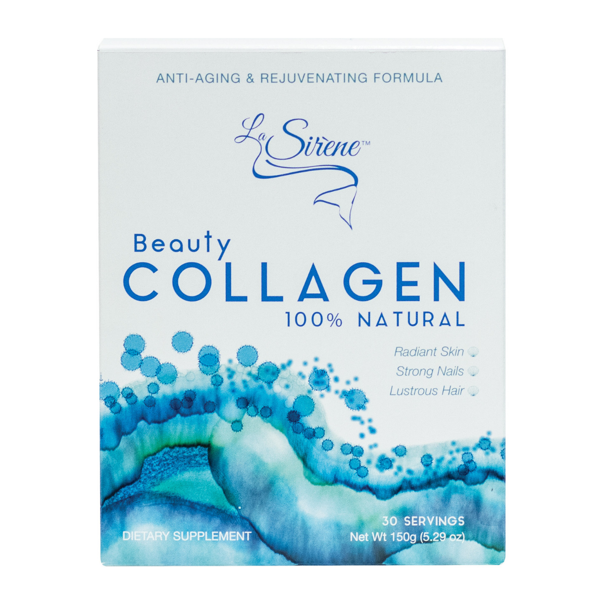 100% Natural Marine Beauty Collagen - La Sirene Beauty Marine Collagen,