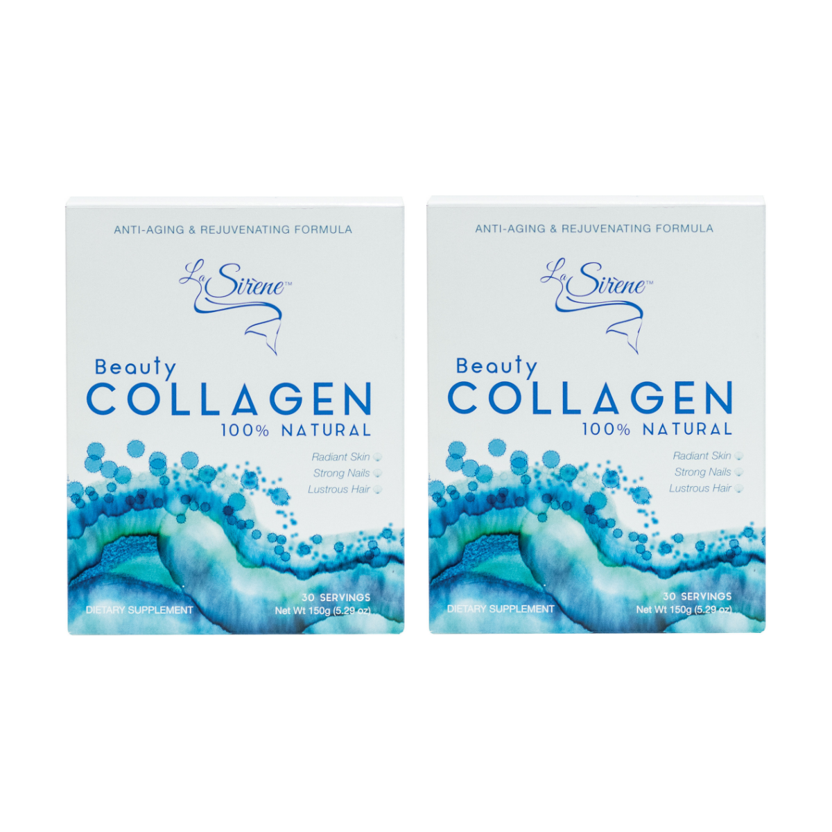 100% Natural Marine Beauty Collagen - Forever Young Duo - La Sirène