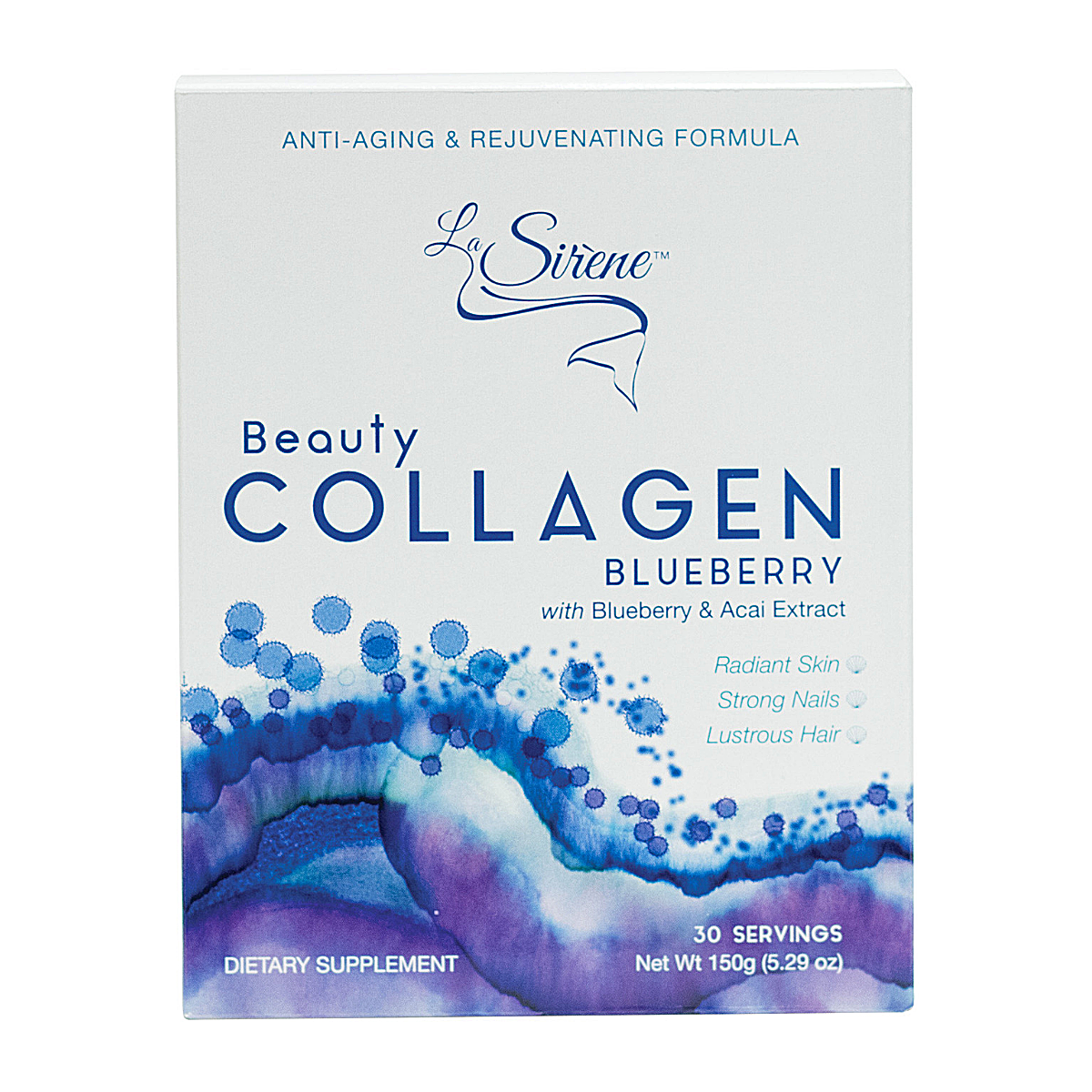 Blueberry Beauty Collagen - La Sirene Beauty Marine Collagen,