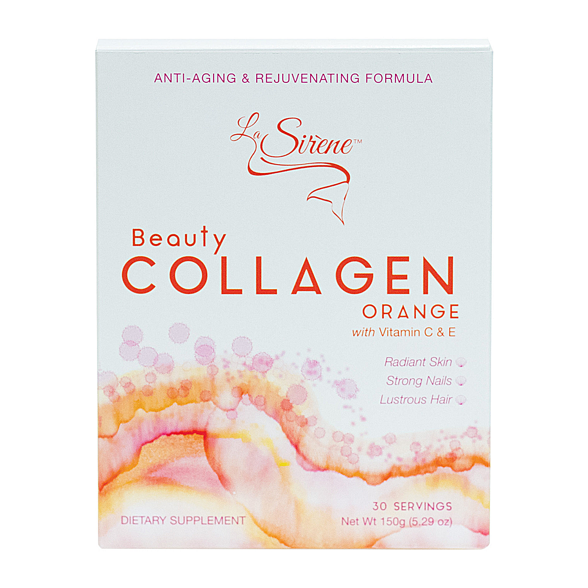 Orange Beauty Collagen - La Sirene Beauty Marine Collagen,