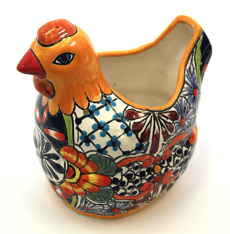 Chicken Planter - Orange Puebla Colour