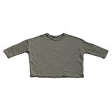 Cotton Wide Long Sleeve Shirt - Army Green