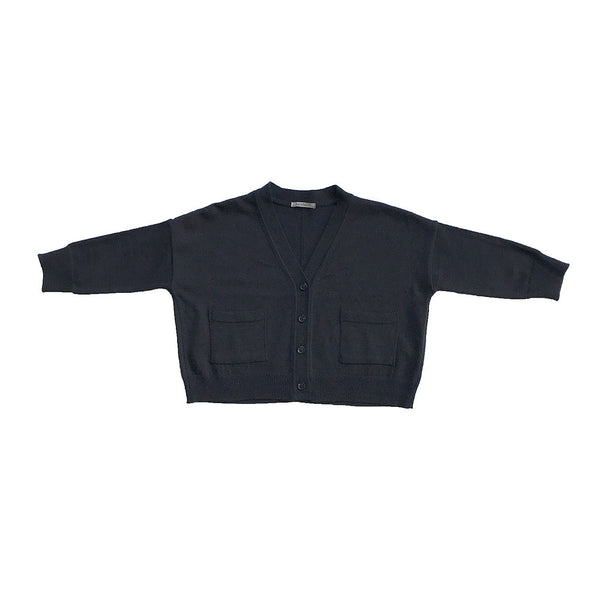 Cotton Sweater Cardigan - Black