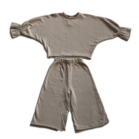 Stylish Play Clothes Set - Beige