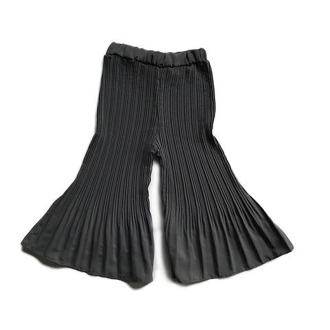 Silky Pleated Swing Pants - Grey
