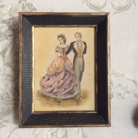 Vintage Ballroom Dancing Party Wall Art