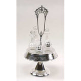 Silver Plated Cruet Set with 5 Bottles