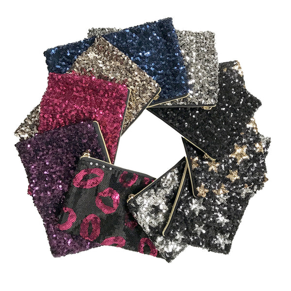 Kids Bag - Sequin Party Glitter Clutch Bags - Assorted
