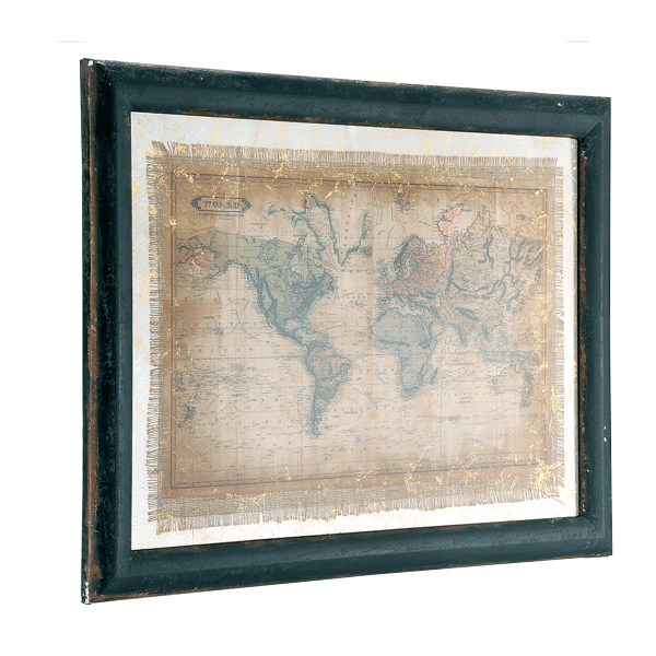 World Map Wood Plaque
