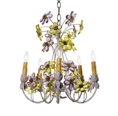 Crystal Petal Chandelier