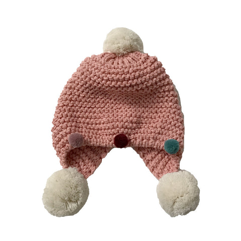 Kids Hats - Wool Pom Pom Hat for Kids - Assorted